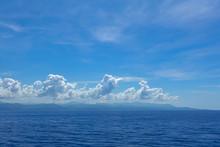 The Hazy And Mountainous Coast...