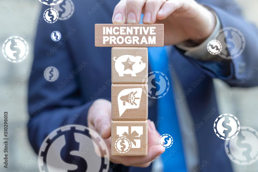 Fototapeta Incentive Loyalty Program Internet Marketing Business Concept.