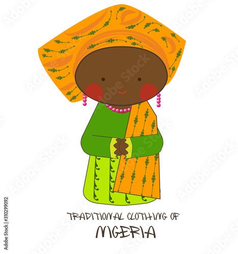 Traditional Clothing of Nigeria, Yoruba Canvas Print