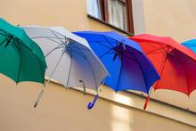 Umbrellas In Different Colors ...
