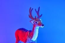 Modern Conceptual Art Deer Wit...