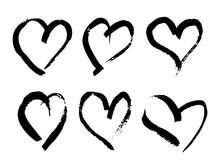 Hand Drawn Brush Heart