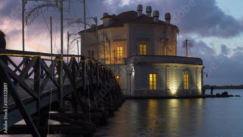 Photo Casina Vanvitelliana, Fusaro Lake, Bacoli, Naples. Italy