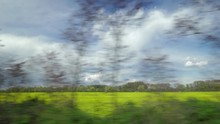 View From Riding Train Window ...