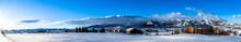 Panoramic View Of Sun Rays Ove...