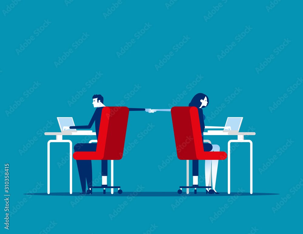 Fototapeta Colleagues collaboration team. Concept businesns teamwork vector illustration
