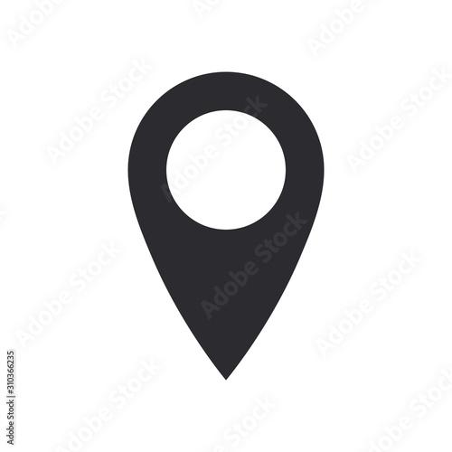 Cuadros en Lienzo  Vector icon search map