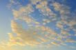 Leinwandbild Motiv cloud on sunset sky background