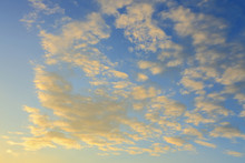 Cloud On Sunset Sky Background