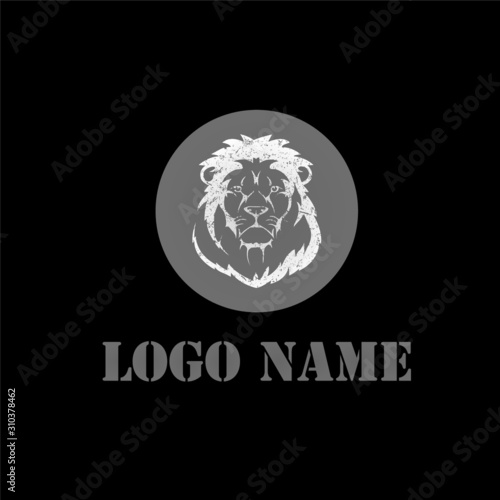 Photo Lion Mascot Style logo template design - VECTOR