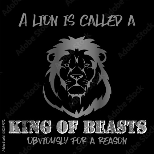 Lion is a king of beasts - VECTOR Canvas Print