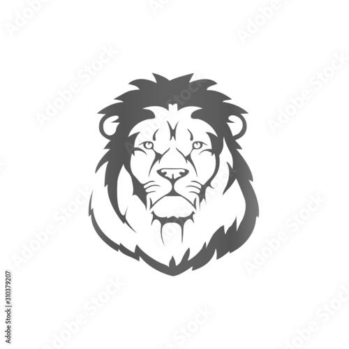 Lion Icon simple illustration - VECTOR Wallpaper Mural