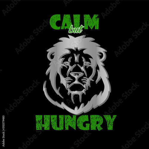 Photo Calm lion 3d style - VECTOR