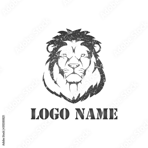Lion Mascot Style Logo template - VECTOR Wallpaper Mural