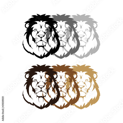 Photo  Shaded Lion template design - VECTOR