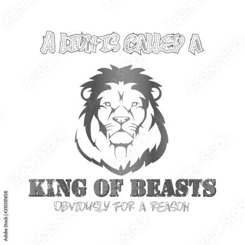 King of beasts design - VECTOR Canvas Print