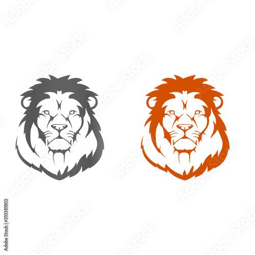 Lion abstract Icon Logo template - VECTOR Wallpaper Mural