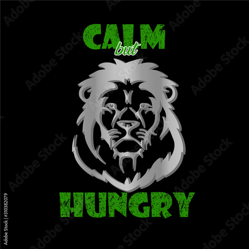 Photo Calm Lion design - VECTOR