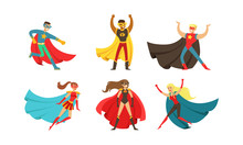Superheroes Characters In Diff...