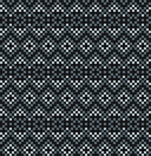Christmas Fair Isle Seamless Pattern - This Is A Fair Isle Pattern Suitable For Website Resources, Graphics, Print Designs, Fashion Textiles, Knitwear And Etc.