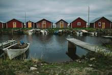 Boathouses At Sea