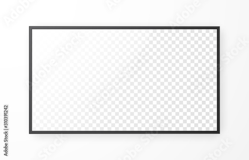 Realistic television screen on white background Wallpaper Mural