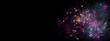 Feuerwerk Banner oder Hintergrund mit viel Textfreiraum für Silvester/Neujahr