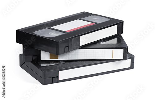 Foto Old VHS Video Cassettes isolated