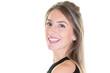 Leinwanddruck Bild - Beautiful blonde smiling girl portrait happy beauty woman
