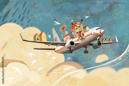 samolot-magia-fantasy-fantasy