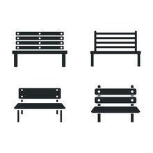 Park Bench Icon Template Color...