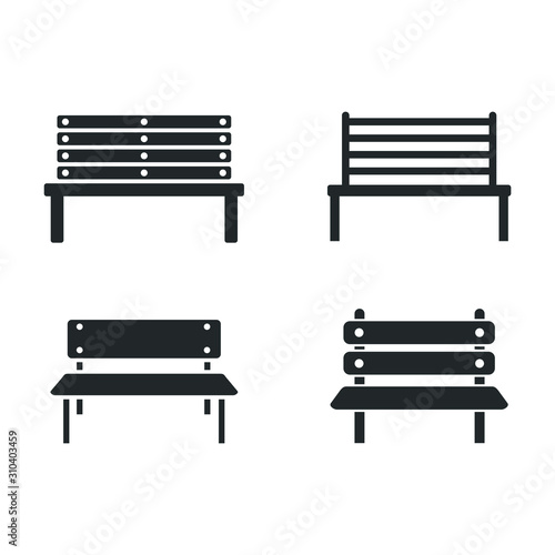 park bench icon template color editable Wallpaper Mural