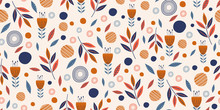 Flowers Seamless Pattern With ...