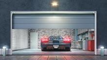 Modern Garage With Open Gate. ...