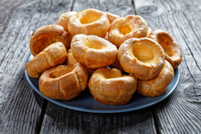 Close-up Of Yorkshire Puddings On A Plate
