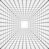 Fototapeta Perspektywa 3d - 3D perspective mesh tunnel vector perspective square mesh