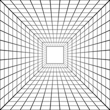 3D Perspective Mesh Tunnel Vector Perspective Square Mesh