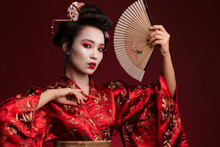 Image Of Young Geisha Woman In...