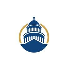 Capitol Vector Icon Illustration