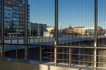 MODERN CITY - Poznan viewed through the window