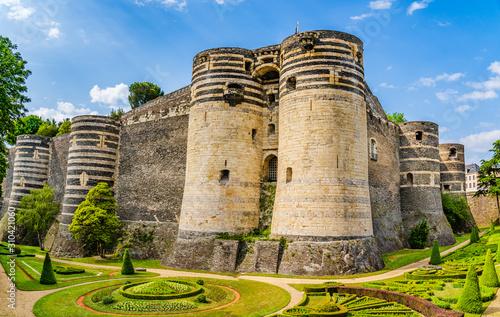 The medieval castle of Angers, France Fototapet