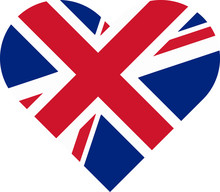 Flag Heart - United Kingdom