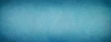 Elegant Blue Parchment Paper Texture Horizontal Empty Background. Luxury Antique Card. Dark Distressed Texture Wallpaper. Website Background. Vintage Textured Web Banner Header Board