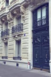 Paris street view. Retro filtered colors.