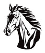 Vector decorative horse 8