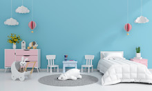 Blue Child Bedroom Interior Fo...