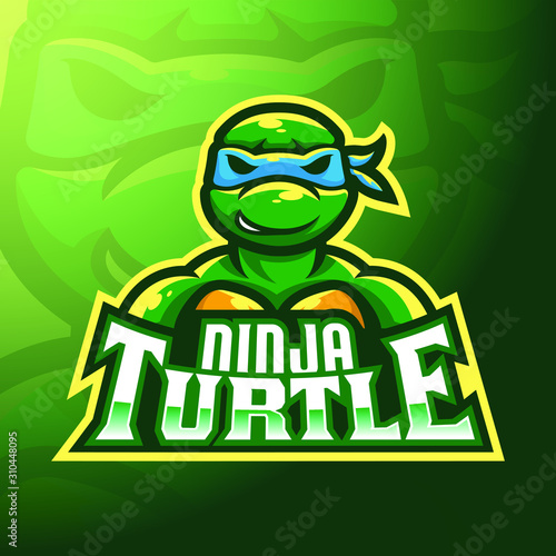 Fotografie, Obraz stock vector ninja turtle mascot logo