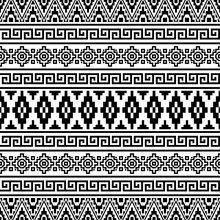 Seamless Ethnic Pattern Illust...