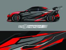 Racing Car Wrap Design Vector....