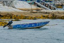 Old Boat In Choppy Waters